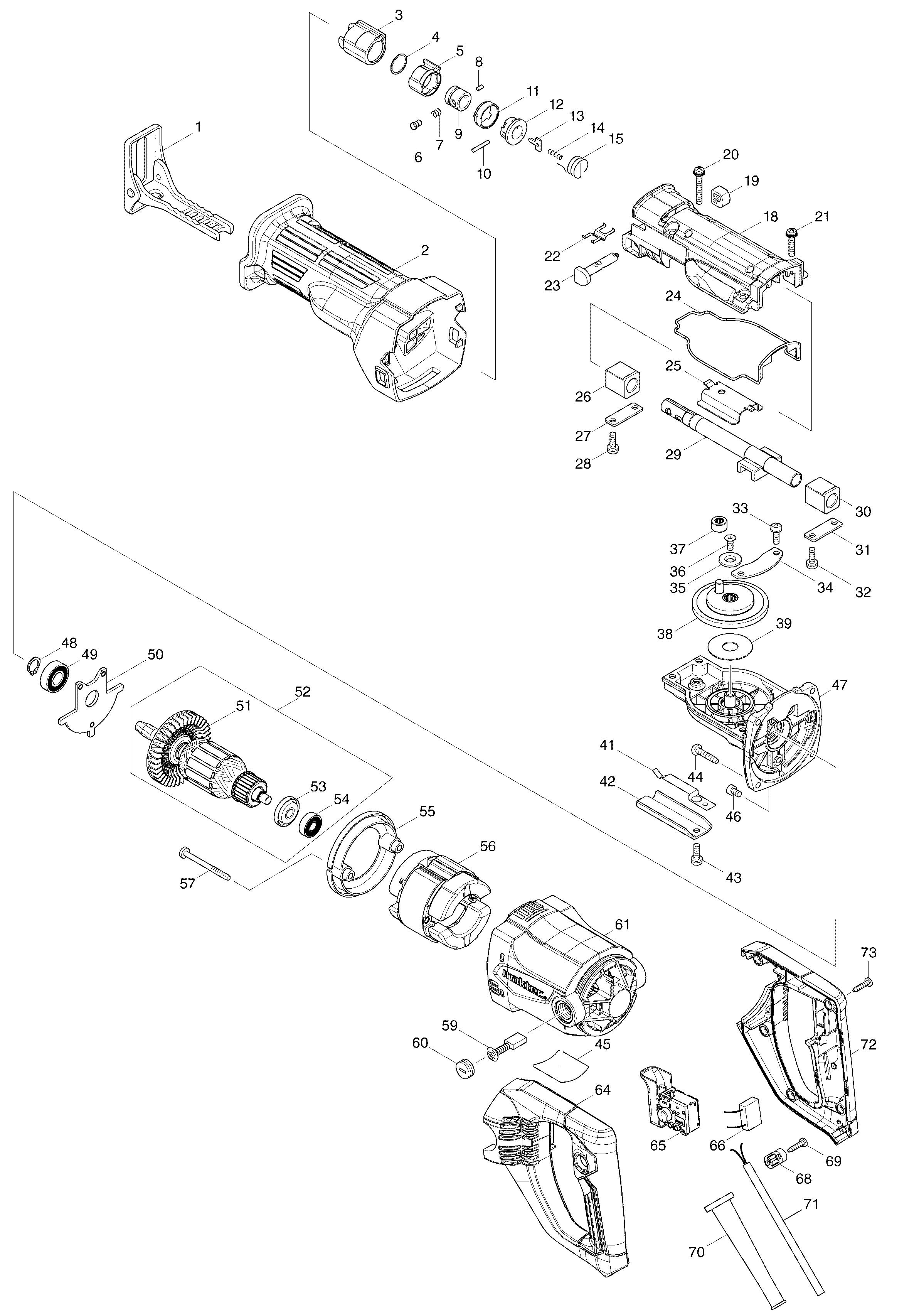 Схема сабельной пилы макита